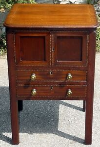 Georgian Period Antique Mahogany 2 Drawer Cabinet Kingston Kingston Area image 2