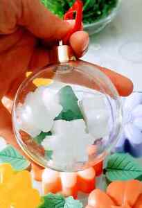 Handmade Soap Clear Christmas Ornament (Balls)  Kitchener / Waterloo Kitchener Area image 4
