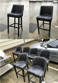 Modern Black Bar Stool, Leather £30 each