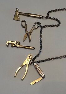 Brass tool necklace by Intercast Windsor Region Ontario image 1