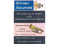"""""""SILVER SOUNDS"""" An evening of music with Heathfield Silver Band"""