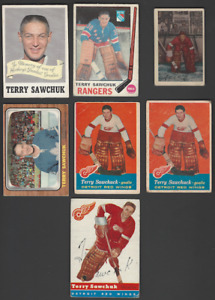 Vintage Parkhurst/Topps/OPC Terry Sawchuk Hockey Cards