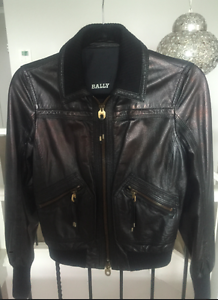 Genuine Womens BALLY Leather Jacket Size-S Casula Liverpool Area Preview