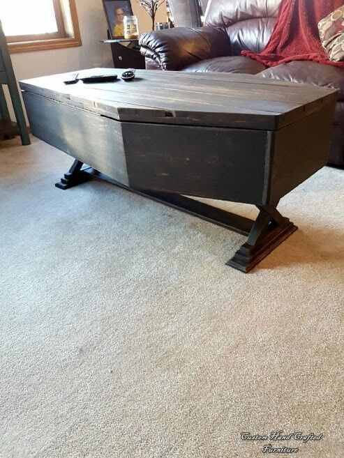 Hand Crafted RedRum Coffin Coffee Table Coffee Tables Calgary - Coffin coffee table