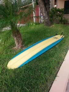 9 Foot Henry Fry Longboard Surfboard With Padded Bag