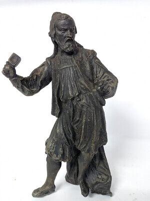 Antique Victorian 19th C Cast  Spelter Stonemason Figure