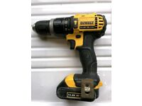 Dewalt 14.4V Li-ion drill with battery no charger included.