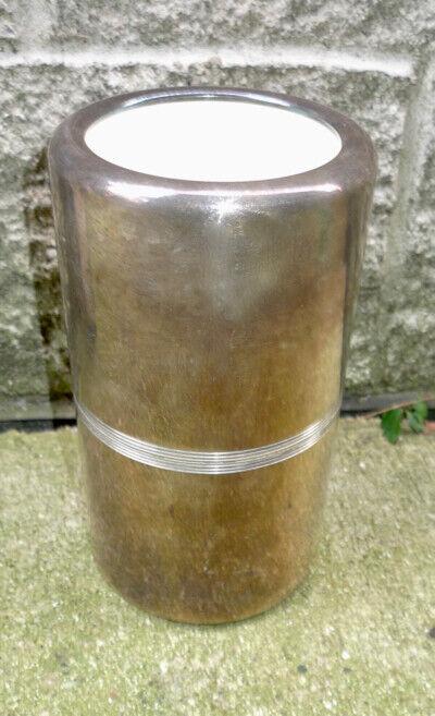 Christofle France Silverplate Wine Cooler Modernist Art Deco Design