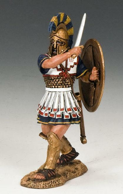 King & Country AG013 Fighting Hoplite - RETIRED - Mint in the Box