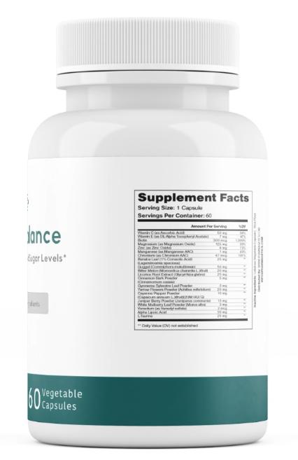 Sugar Balance Vegetarian Supplement 60 Capsules  1