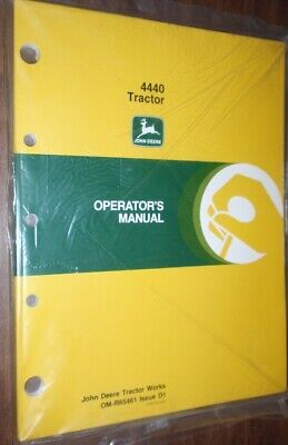 John Deere New Owner Operator Manual - 4440 Tractor - Om--r65461 Issue D1