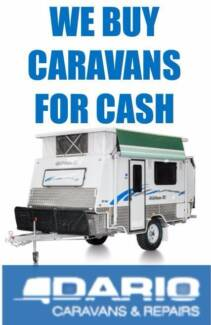 Wanted: WE PAY CASH FOR CARAVANS ANY MODEL  (JAYCO, ROADSTAR, COROMAL)