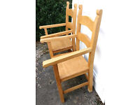 Wooden Carver chairs x2