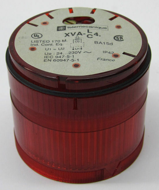 Telemecanique XVA-C441 Stack Light, Flashing Red, 24-230 VAC