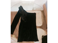 Charming, black, suede dress. Worn Once only