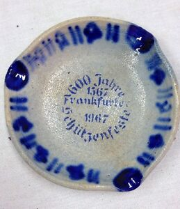 German Ashtray 600 Jahre Schützenfest Frankfurt 1567-1967 Firearms Collectible?