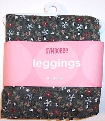 NWT Gymboree Forest Green Pinecone Leggings, Mountain Cabin, 12-18M or 18-24M