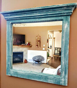 Stunning HandCrafted Distressed Mirror