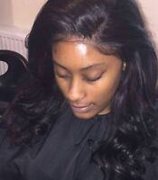 Professional Weave sew-in,Lacefrontal.Closure.Wiginstall&Braids.