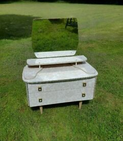 Vintage dressing table with mirror deco style handles gold edging beautiful