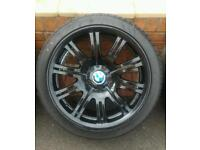 GENUINE BMW 19 INCH M3 ALLOYS 5x120 PROFESSIONALLY REFURBISHED NANKANG TYRES