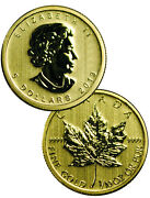 1/10 oz Gold Canadian Maple Leaf