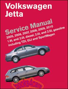 JETTA SHOP MANUAL SERVICE REPAIR BOOK VOLKSWAGEN BENTLEY ROBERT 2005 2010 TDI GL
