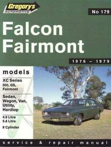 Ford Falcon XC 8 cyl 1976 - 1979 Gregorys Repair Manual Blacktown Blacktown Area Preview