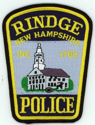 RINDGE POLICE NEW HAMPSHIRE NH COLORFUL PATCH SHERIFF STYLE 2