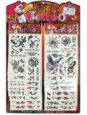 2x Tattoo Sticker Klebebild Mitgebsel Kinder Geburtstag Adventskalender St.0,99€