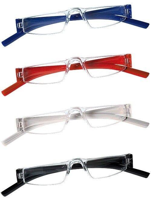 2 Stück Lesebrille randlos Unisex Lesehilfe Kunststoff Brille --->>TOP PREIS !!!