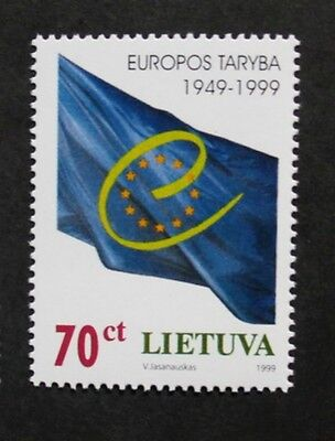50th anniversary of council of Europe stamp, 1999, Lithuania, SG ref: 701, MNH