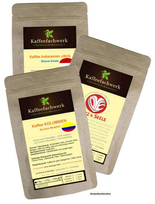 Probierpaket Kaffee nach Wahl 3x100g ♥ Frisch geröstetes Kaffee Probierset
