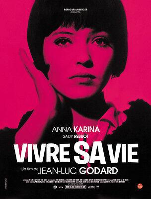Vivre sa vie: Film en douze tableaux (1962) Jean-luc Godard movie poster print 5