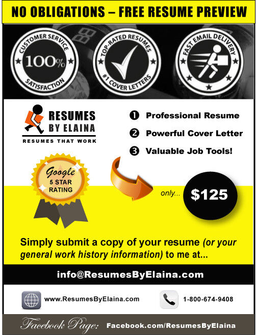 professional resume and cover letter 5 star google reviews