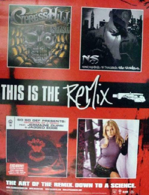 CYPRESS HILL  JESSICA SIMPSON REMIX CD PROMO POSTER 2002