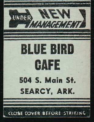 SEARCY AR Blue Bird Cafe Vtg Restaurant Advertising Green Match Book Cover Old