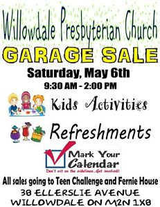 Charity Garage Sale At Willowdale