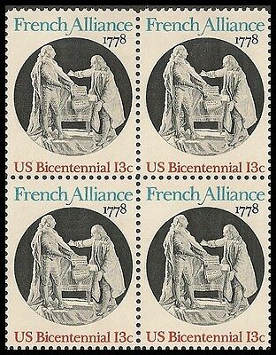 Us 1753 French Alliance 13C Block Mnh 1978
