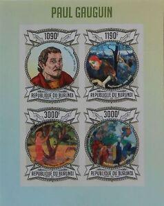 Paul Gauguin paintings m/s Burundi Sc.1310 MNH #BUR13118a IMPERF - <span itemprop='availableAtOrFrom'>Olsztyn, Polska</span> - Paul Gauguin paintings m/s Burundi Sc.1310 MNH #BUR13118a IMPERF - Olsztyn, Polska