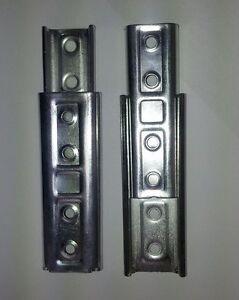 Silver Metal KD Headboard Wall Mount Fixing Bolt Bracket Kit