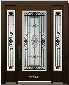 WROUGHT IRON DECORATIVE DOOR GLASS INSERTS