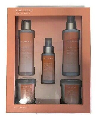 Pecksniffs Time For Me Radiant Dawn Bath Gift Set Bath Soak, Oil, Mist & Candles