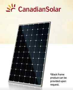 280W Canadian Solar Panel Pallets $0.67/W Black Frame