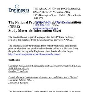 Professional Engineering Exam NPPE