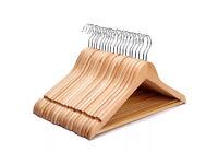 35 Wooden Coat Hangers