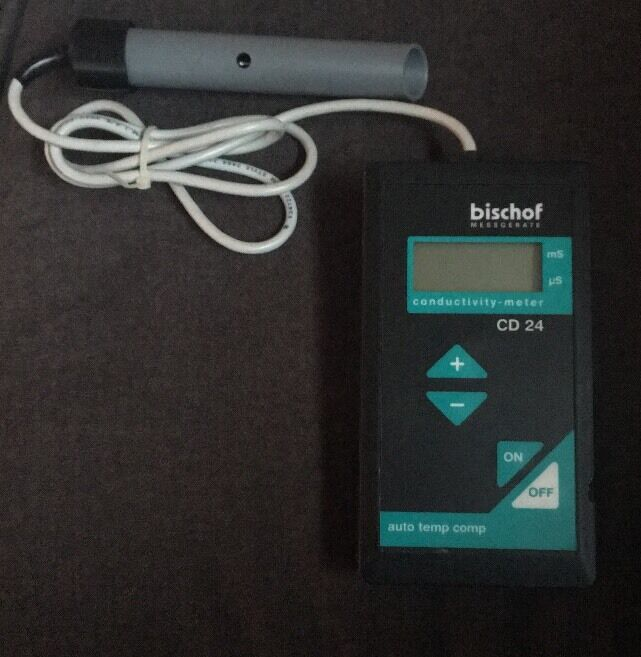 Bischof Messgerate CD24 Digital mS/uS Conductivity Meter Used Free Shipping