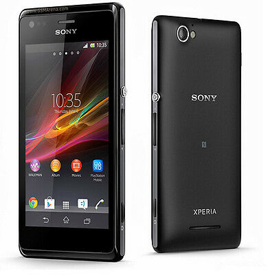New Unlocked Original Sony Xperia M C1905 4GB Smartphone 5MP WIFI Black