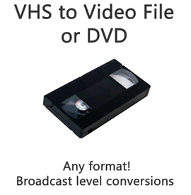 VHS Tape to DVD, USB or File
