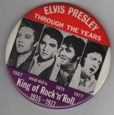 Vintage Elvis Presley Pin King of Rock N Roll Pin Elvis Through The Years Pin